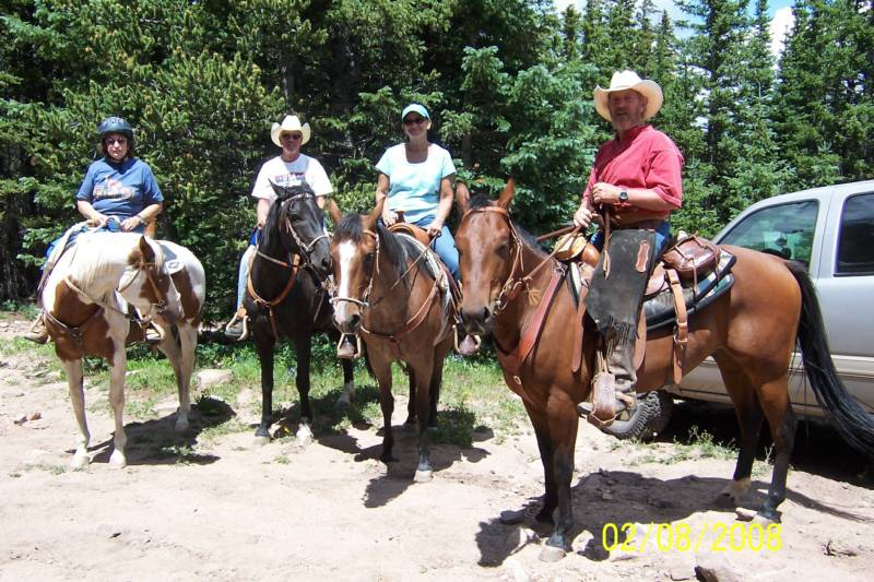 four trail riders